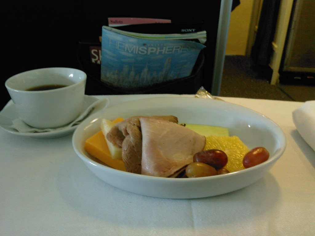 Meal in first. United A319.