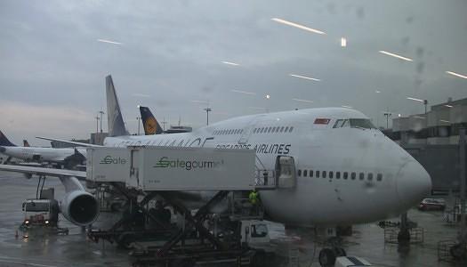 Singapore 747-400 Economy Seat 43H