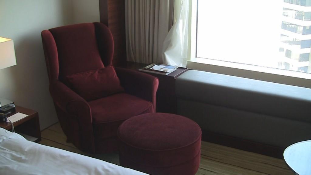 Lounger in twin room at Hyatt Regency Tsim Sha Tsui