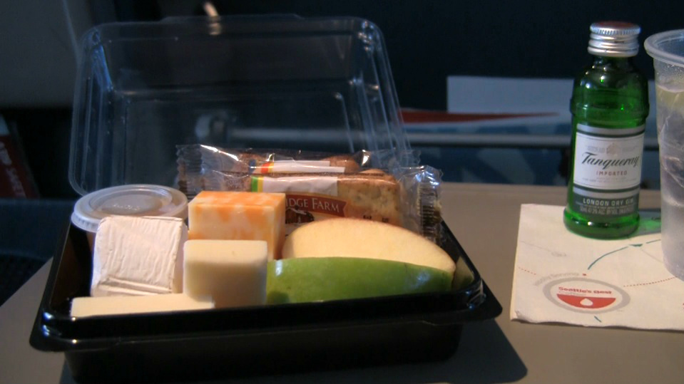 Delta Airlines fruit and cheese tray.
