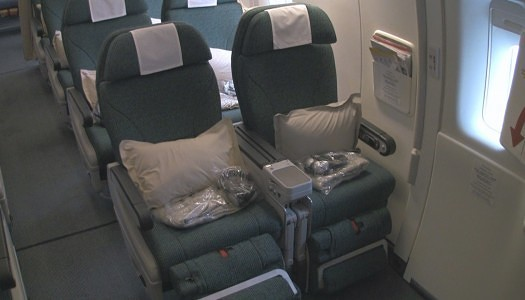 Cathay Pacific – Premium Economy CloseUP