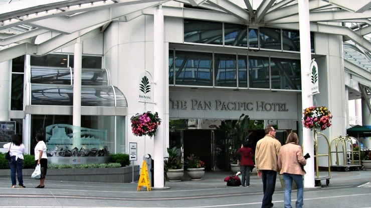 Entrance to Pan Pacific Vancouver