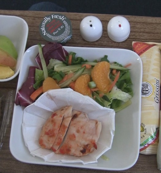 Chicken Salad aboard Delta Connection E175