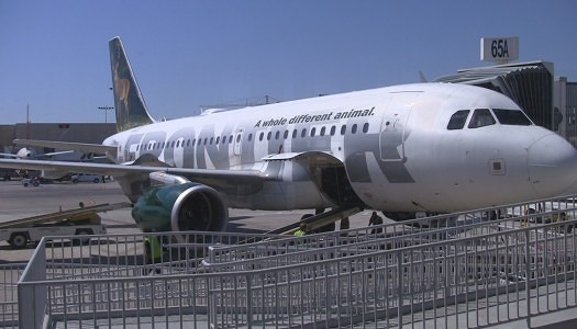 "Frontier Airlines Airbus A319 ""Stretch"" Seat 1D"
