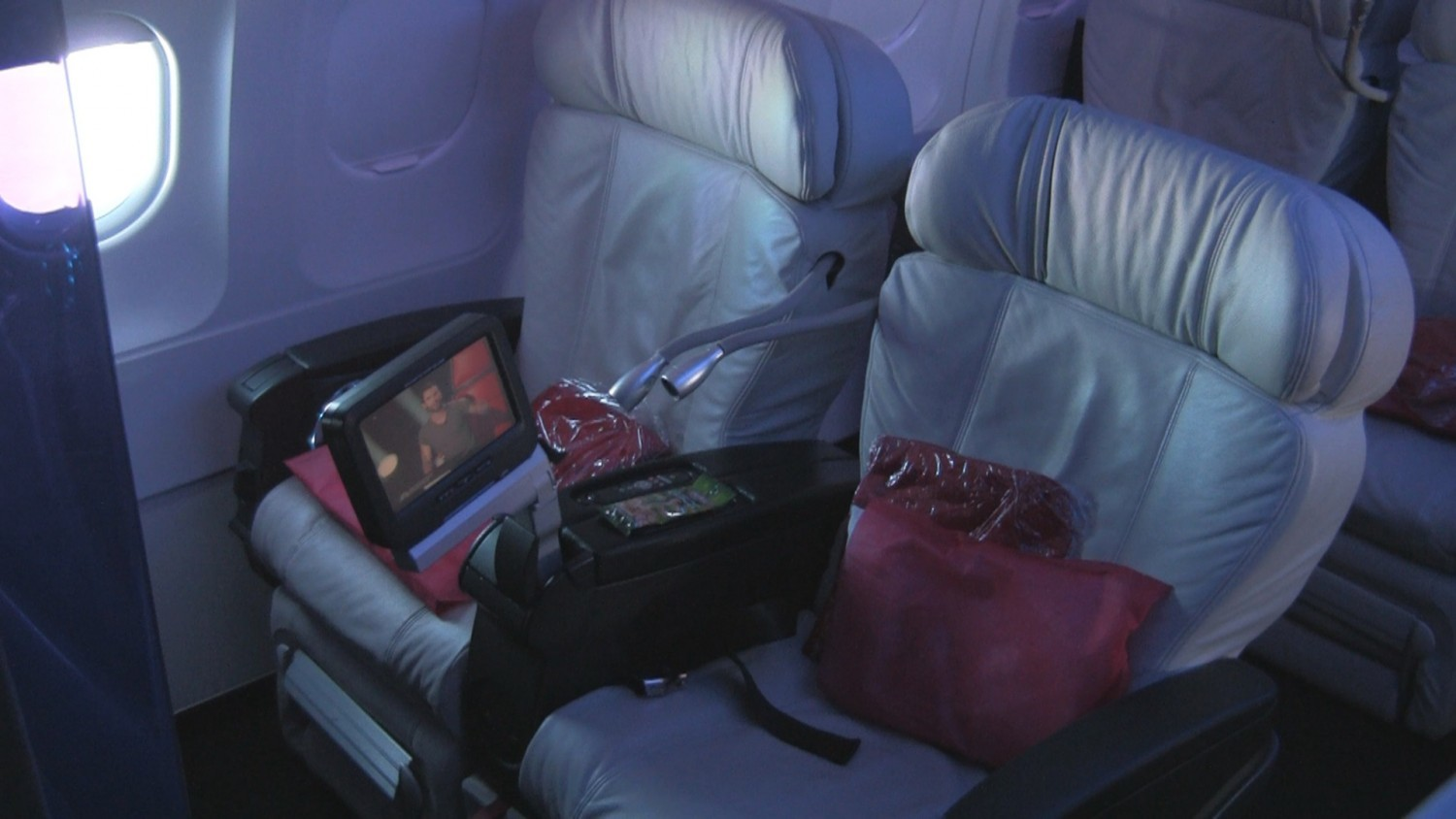 Virgin America A319 in First Class