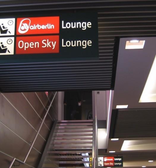 Stairway to airberlin Lounge Düsseldorf
