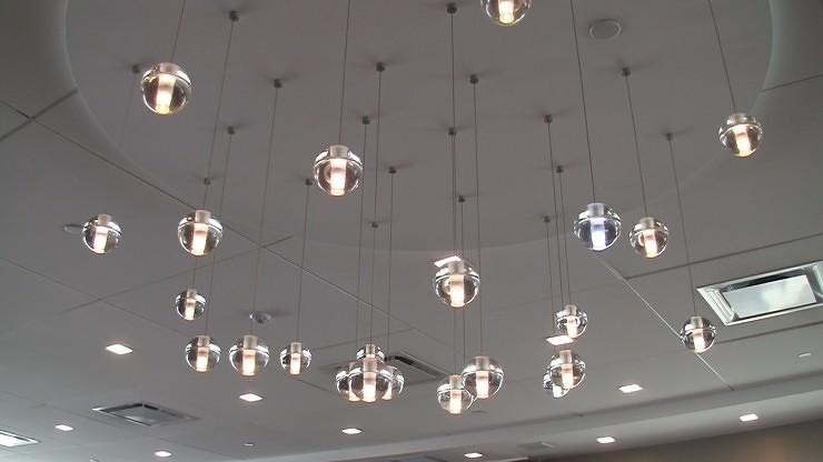 Lighting inside LGA AAdmirals Club