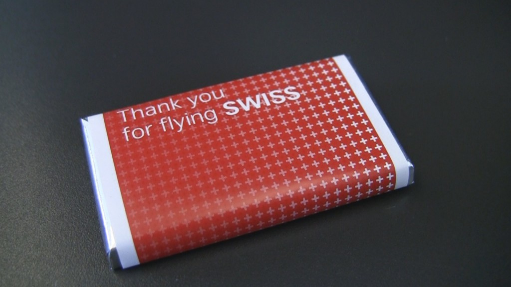 Swiss Airlines Chocolate
