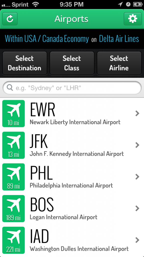 Airport list - LoungeBuddy App