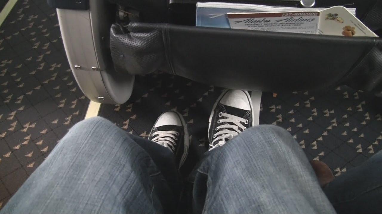 Video Alaska 737 800 Economy Seat 6d Bulkhead