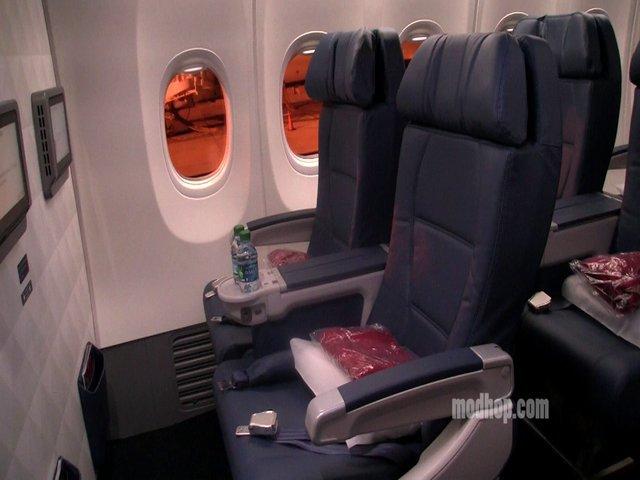 Video Delta 737 900 First Class Row 1 Modhop