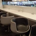 Eva Infinity Lounge counter seating.