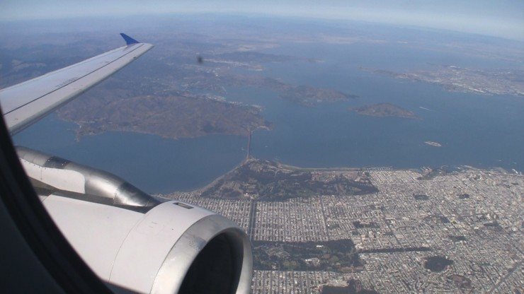 View of San Francisco from United A320