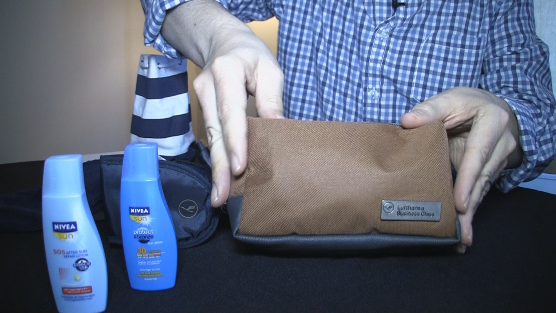Lufthansa Amenity Kit in Business Class