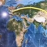 Moving Map full route LHR-ICN