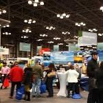 Main hall at NY Times Travel Show 2014.