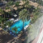 Hollywood Roosevelt pool area. View from deluxe room.