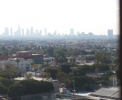 LA view from Hollywood Roosevelt