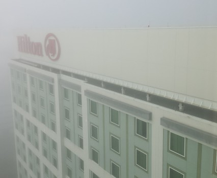 Spooky fog from club lounge.