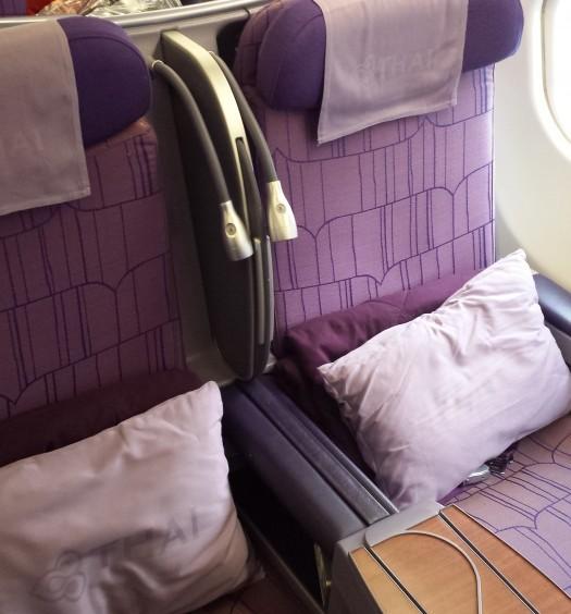Row 15 aboard a Thai A330-300