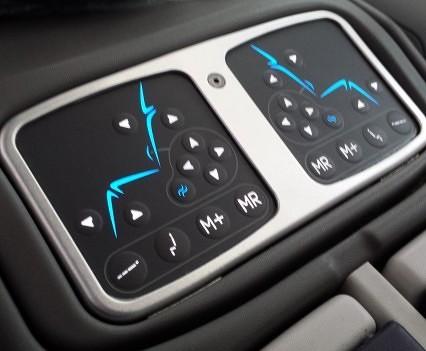 Seat control panel.