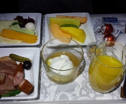 Breakfast in Business Class.