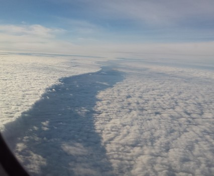 Cloud shelf from 787 windows.