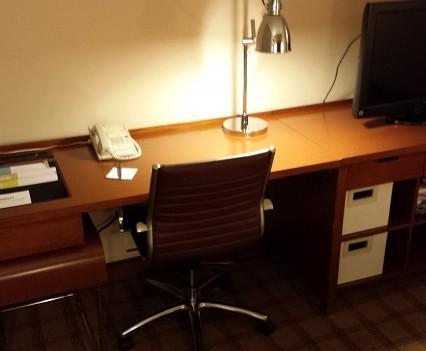 Desk area.