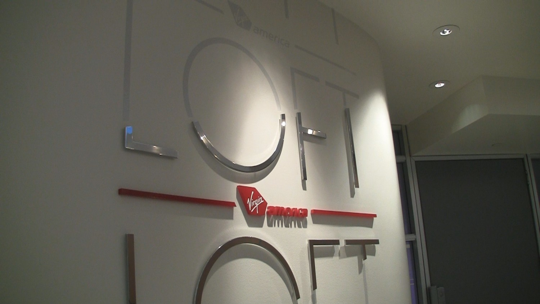 Virgin America lounge at LAX