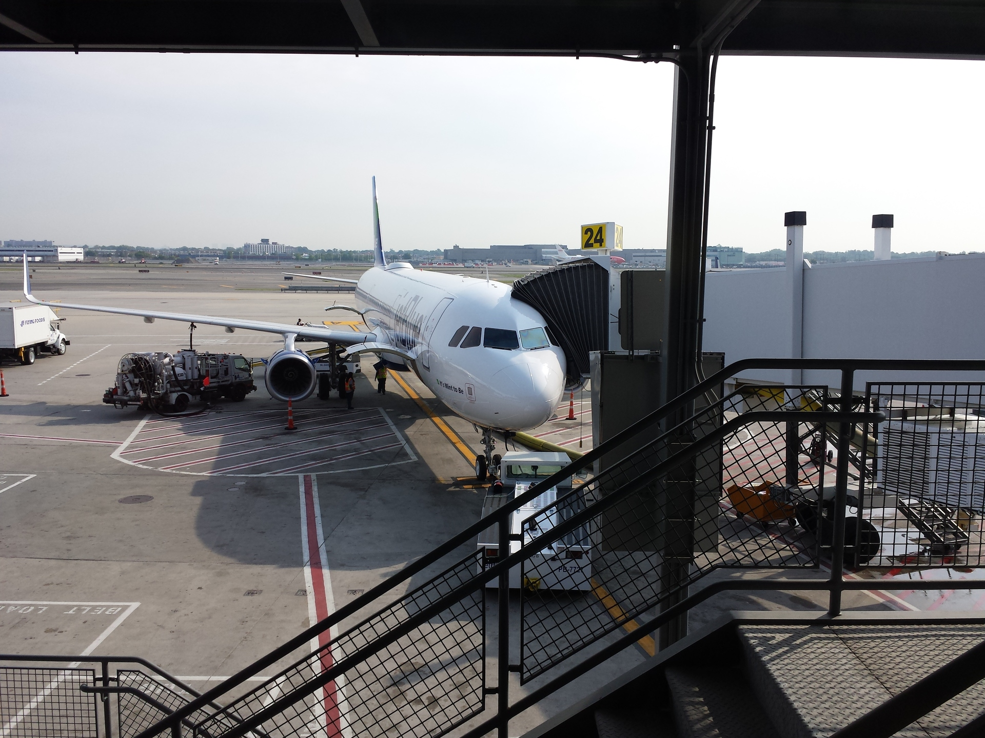 Boarding A Shiny New JetBlue A321 On Its Third Official Day In Service Exit Seat 6F