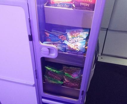 JetBlue self-serve snacks.