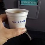 Pre-flight coffee.