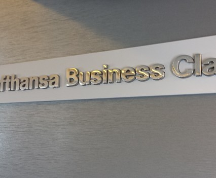Business Class Sign