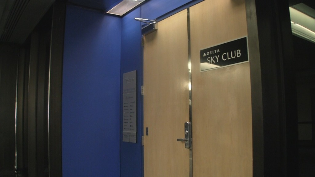 Entrance to Delta Sky Club at Newark