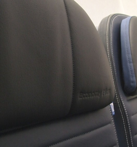 Slimline seats aboard United A319