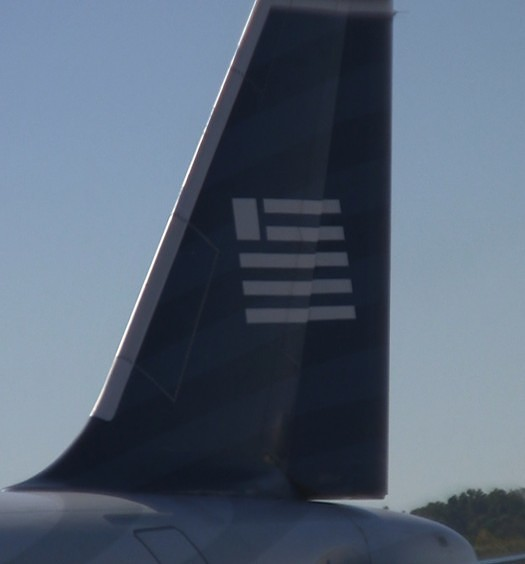US Airways tail on AA A320