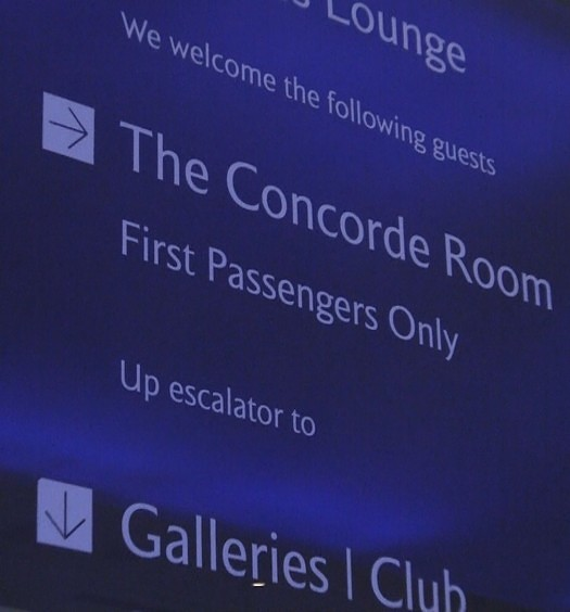 British Airways Concorde Room Heathrow