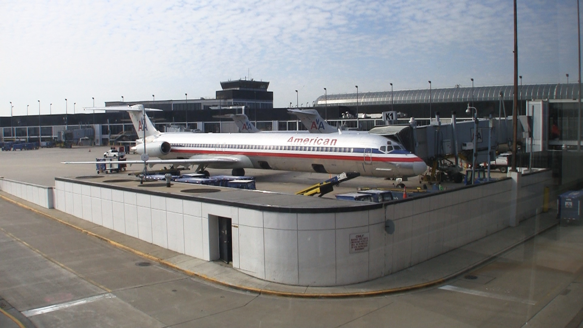 American Airlines Main Cabin Express S80 at the gate