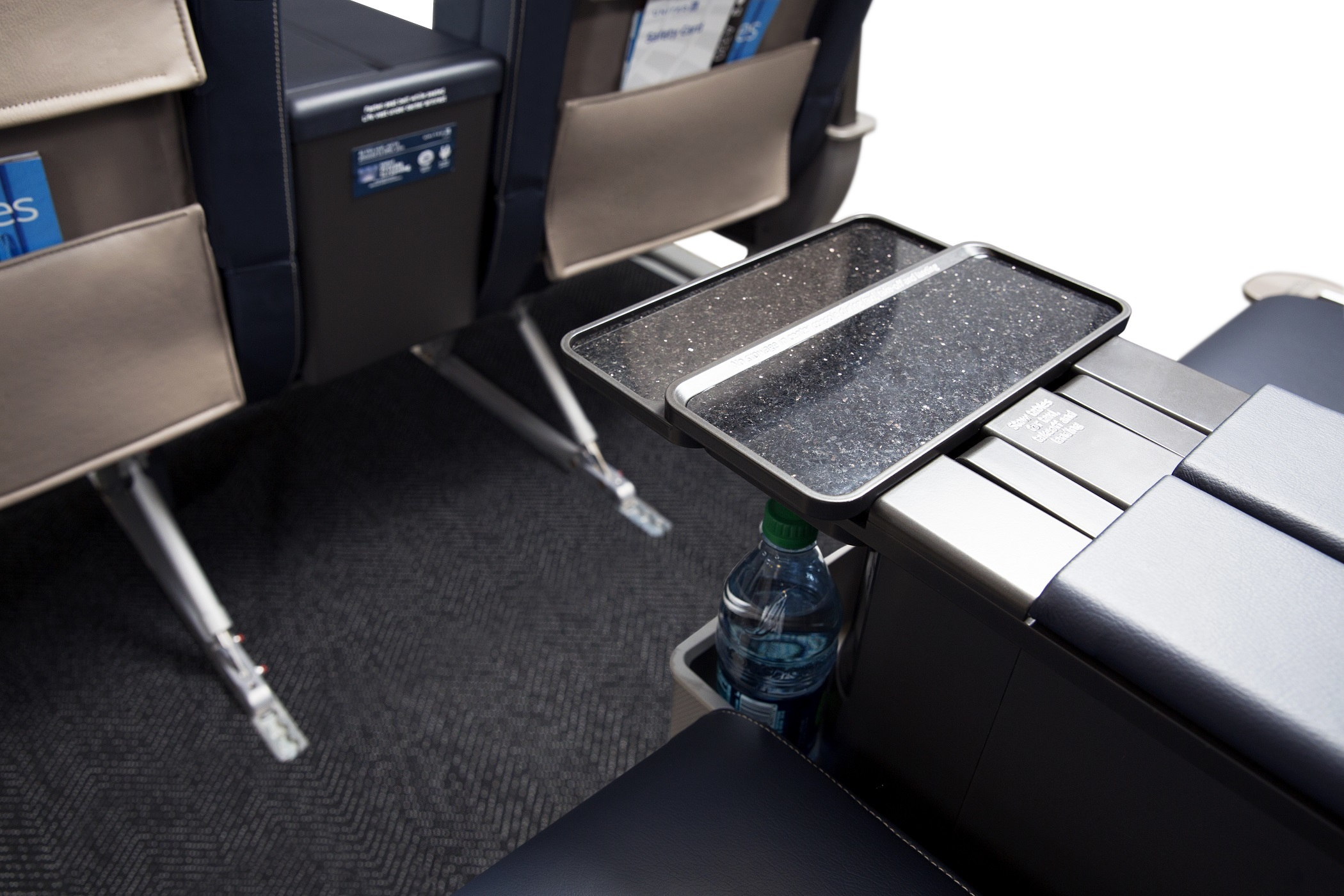 United Airlines First Class console