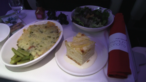 Virgin Atlantic Premium Economy Meal