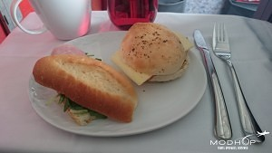 TAM Airlines LATAM Airlines Business Class 767-300 Lunch
