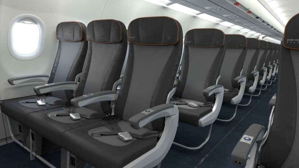 JetBlue A321 seats.