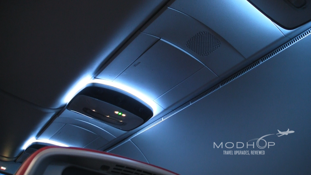 Delta Comfort Seats come with mood lighting.