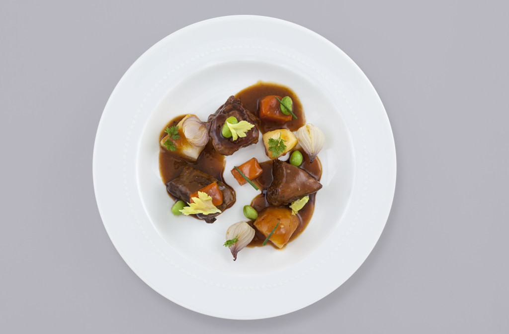 Air France Business Class Lamb Entree by Daniel Bolund.