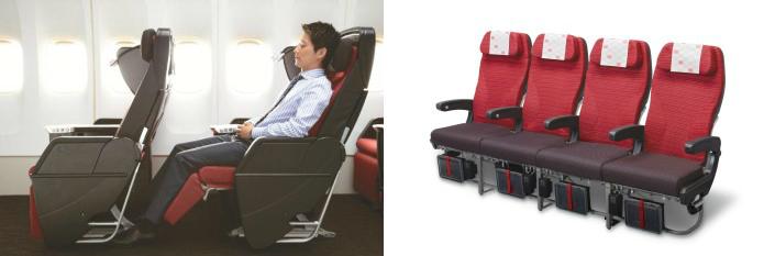 Japan Airlines Premium Economy and Economy