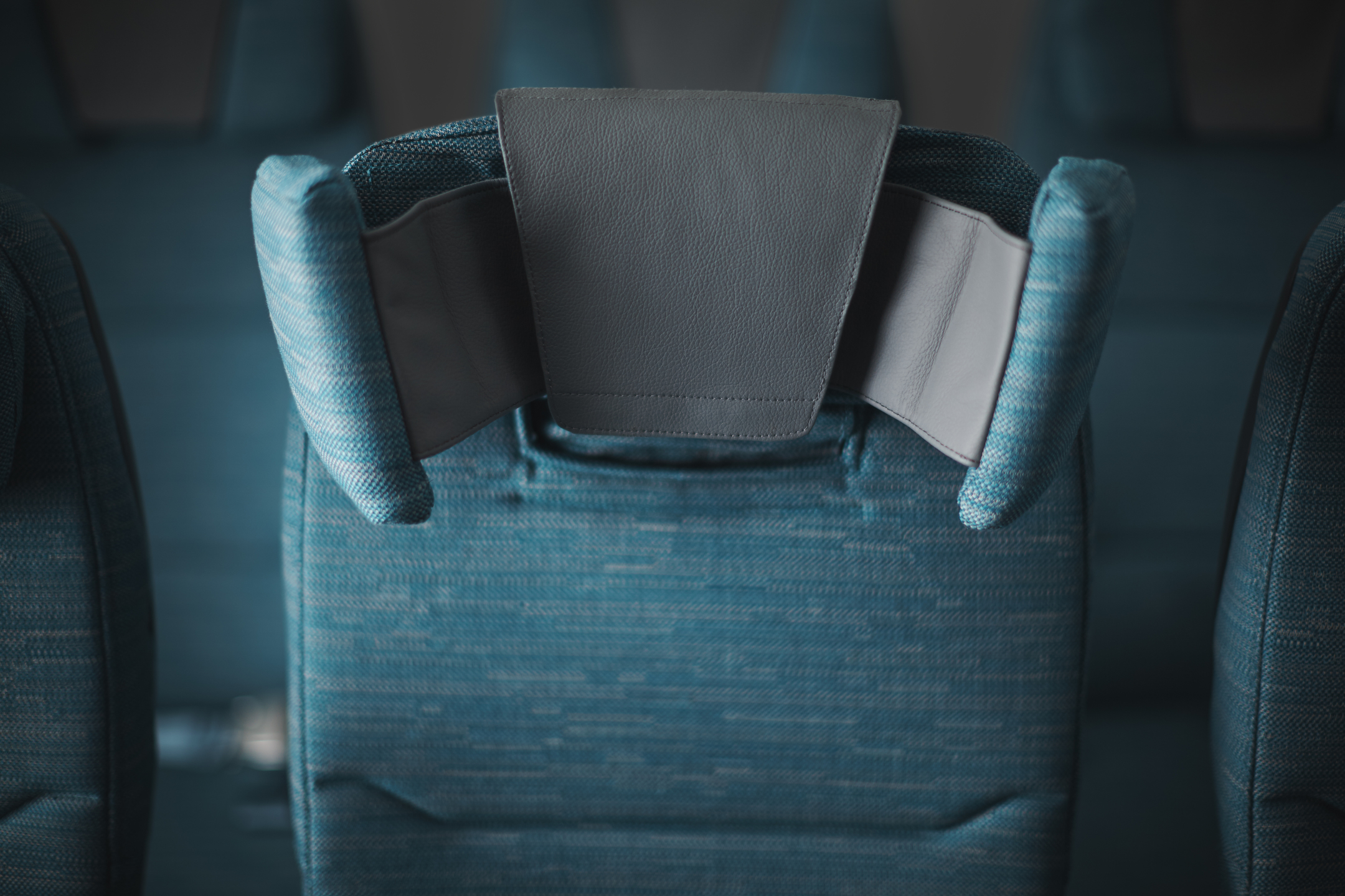 Headrests in Cathay Pacific A350 economy classes.
