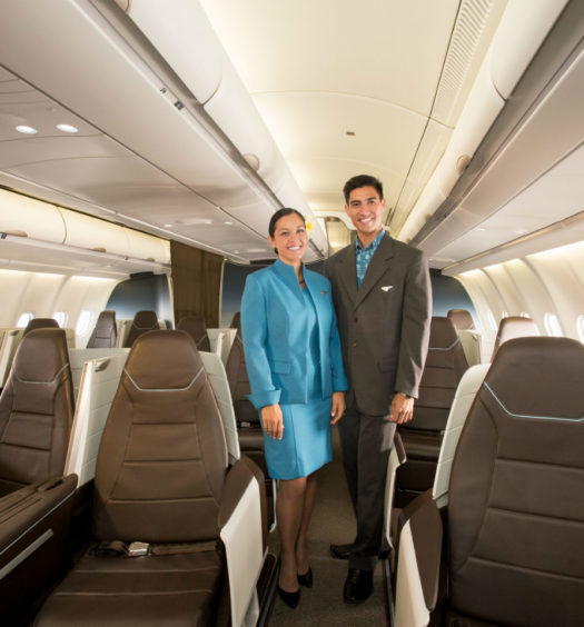 Premium Seats with Hawaiian Airlines First Class Crew.