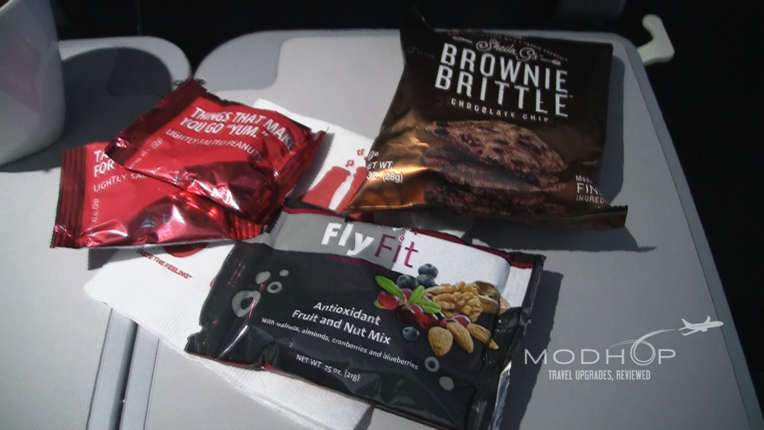 Delta A321 seating food options.