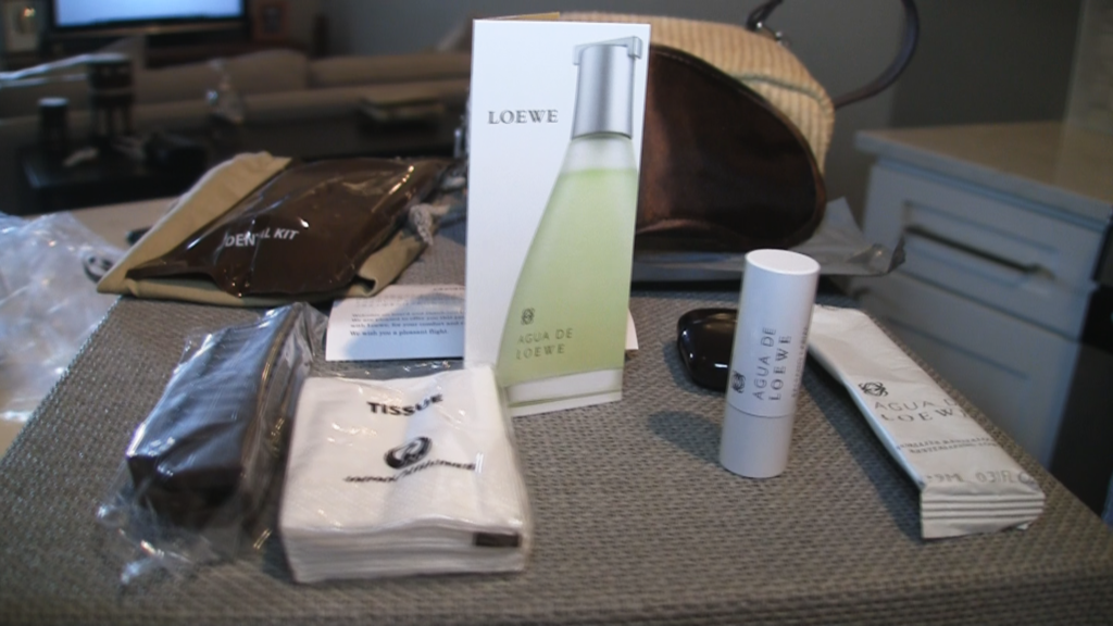 Jake Redman digs into the JAL First Class Amenity Kit