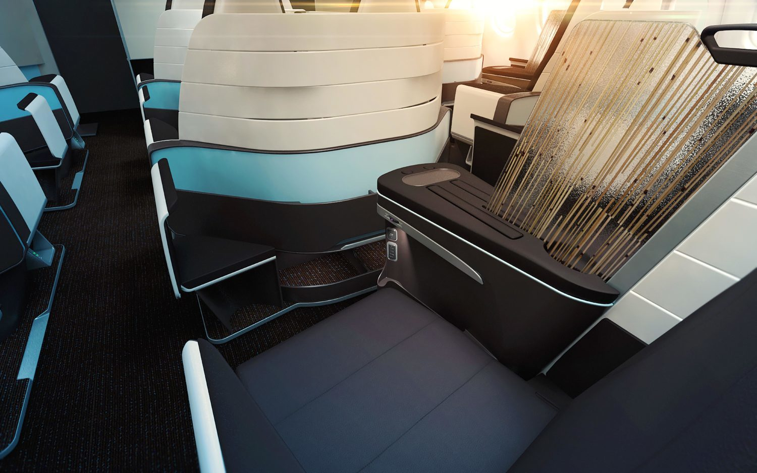 first look hawaiian airlines lie flat seats on the a330. Black Bedroom Furniture Sets. Home Design Ideas